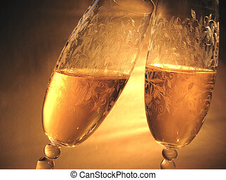 cheers - two glasses of champagne