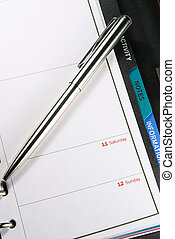 Personal organiser - A personal organiser with a ballpoint...