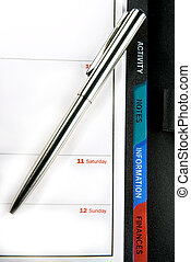 Personal organiser 2 - A personal organiser with a ballpoint...