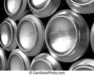 Metal cans 2 - Close up of metallic cans