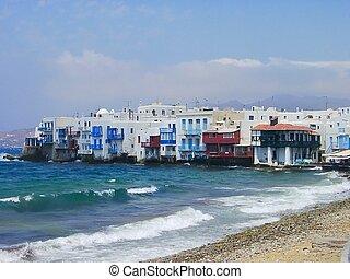 Mykonos classic view, Greece