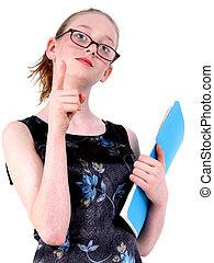 Teen Child Teacher - Fourteen year old girl making fun of...