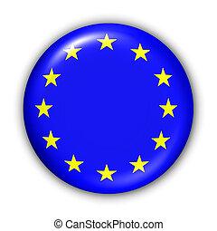 EU Flag - World Flag Button Series - European Union (With...