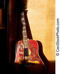 This Old Guitar - A 1967 Acoustic Guitar illuminated by...