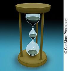 3d triple hourglass concept.
