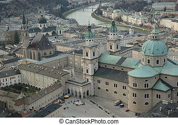 Salzburg, Mozarts town - Salzburg, Austria. The town where...