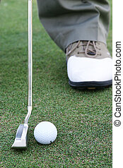 on the green - Putting the ball