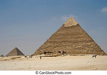 Pyramids at Giseh, Cairo, Egypt