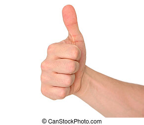 Thumbs up! - Isolated fist with thumbs up