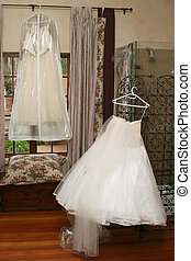 Wedding gowns - Wedding gown waiting to be donned