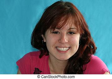 Teen Girl Laughing - Teenage Girl Laughing