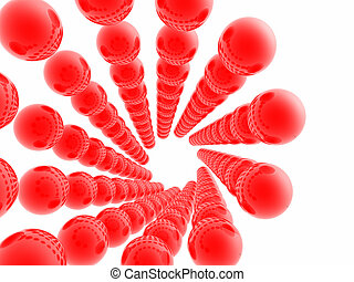 Red Spheres - A pattern of red spheres.