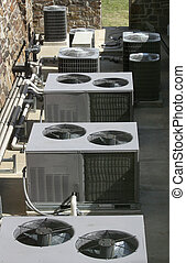 AC Heating Units - Row of ACheating units shot from above