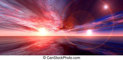 Sunboost - Fantastic 3D sunset render