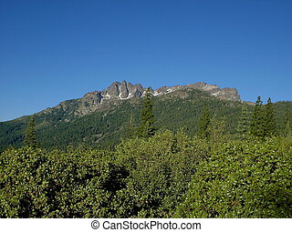 Blue Sky and Buttes - Sierra Buttes in northern California...