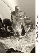 B&W Wedding Glasses - B&W/Sepia wedding glasses just waiting...