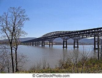 Scenic Bridge - Newburgh-Beacon Bridge crossing the Hudson...
