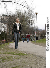 Walking Thinking - Walking in a park in Oslo Norway thinking...