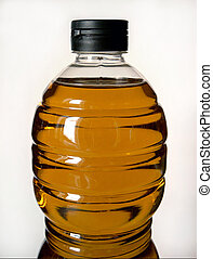 Olive oil - Bottle of olive oil from Spain aginst a white...