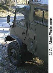 militar, camión