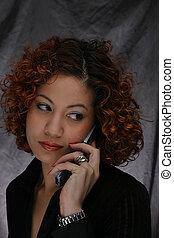 GIRL ON PHONE - YOUNG LADY ON PHONE
