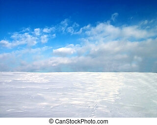 Snow and sky - Pattern for winter presentation, snow and sky