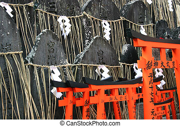 Japanese Cemetery - Tombstones and Tori