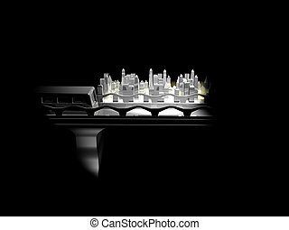 SilverCity - 3d rendered image of a cityscene