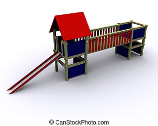 3d PlayHouse - 3d rendered image of a ToyHouse