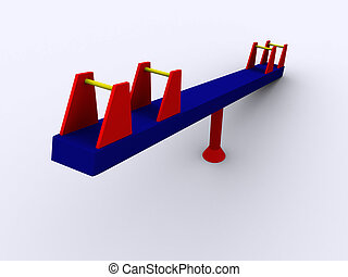 3d PlaySwing - 3d rendered seesaw.