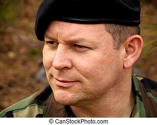 Soldier Portrait 2 - Portrait of a soldier with a beret