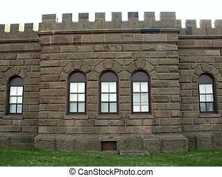 Castle - This is a detailed shot of a castle wall.