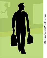 Shopper Silouette - male shopper