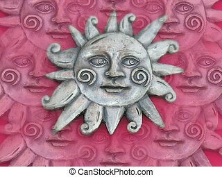 Sun wsame backgrnd - Sun with identical pattern on...