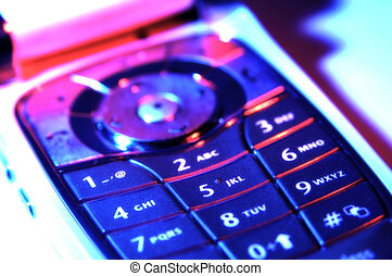 Cellphone Keypad - Photo of a Cellphone Keypad With Color...