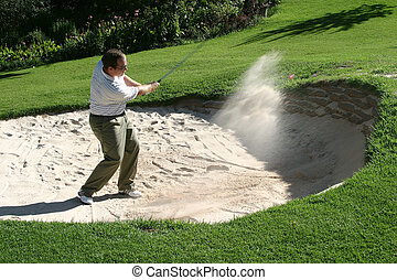 playing from the bunker - Playing from the bunker to the...