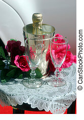 Wedding Glasses 2 - Color version of wedding glasses,...