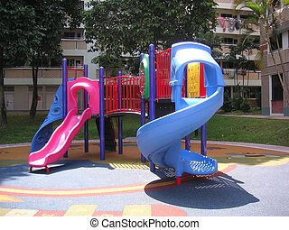 Playground - Childrens playground in a residential area in...