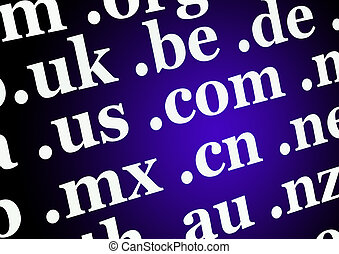 Domain name backgro - Blue-black abstract background with...
