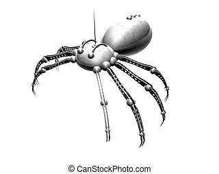 Robot Spider 1 - Isolated 3d render.