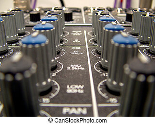Mixing Board Knobs 2 - Knobs on a Mackie Mixing Board