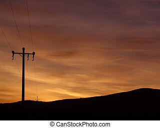 Sunrise - Telegraph Pole Sunrise
