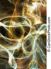 Swirling light 2 - Abstract, digital Background A visual,...