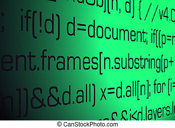 Sourcecode backgroun - Abstract blue-black background. The...
