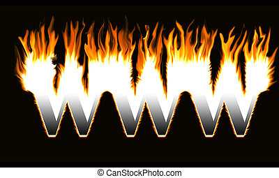 Burning WWW.