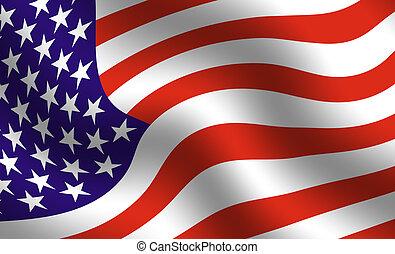 アメリカ人, 旗, 細部