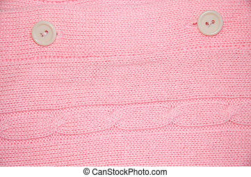 Clothing - Vintage Pink Buttons - Details of the front of a...