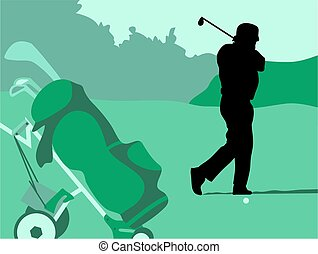 Golf Swing - golfer