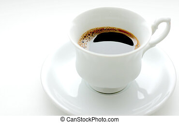 cup of coffee - Cup of fresh coffee, bright light and non...