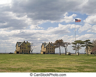 Historic Homes - This is a wide view of some historic living...